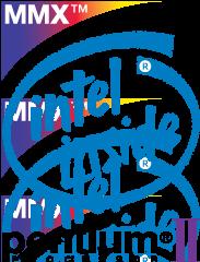 free vector Intel Pentiun ][ MMX logo